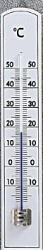 Szobahőmérő, bükk, fehér-101014