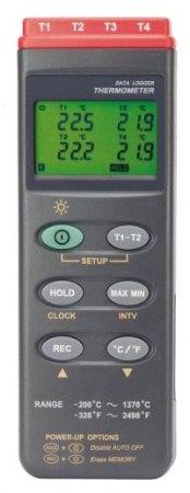 TC 309, 4-csatornás hőmérséklet mérő + mérésadat-gyűjtő + szoftver