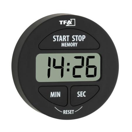 TFA-Digitális percjelző és stopperóra, fekete  (010432201)
