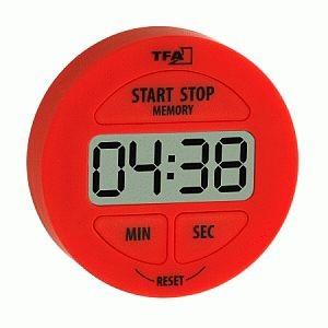 TFA-Digitális percjelző és stopperóra, piros  (010432205)