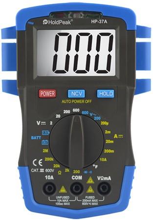 HP-37A, Digitális multiméter, VDC, VAC, ADC, ellenállás, hőmérséklet, dióda