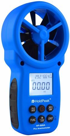 HP-866A, Digitális szélerősség és hőmérsékletmérő, 0.8-40m/sec, -10°C-60°C