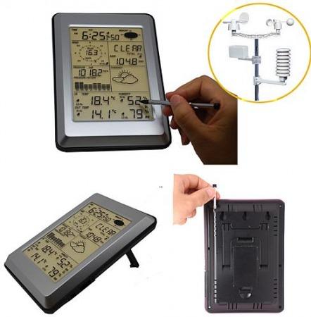 WH 1090 Érintőképernyős USB-meteorológiai központ