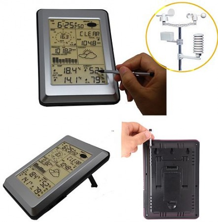 WH 1090 Érintőképernyős USB-meteorológiai központ - 02047