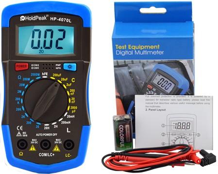HP-4070L, Digitális, ellenállás, kapacitás, induktivitás mérés, tranzisztor hFE teszt