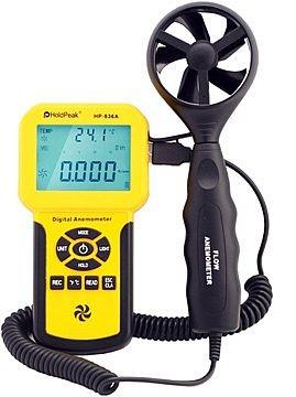 HP-836A, Digitális szélerősség, és hőmérsékletmérő, 0-45m/sec, 0°C-45°C