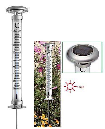 """12.2057 """"Solino"""" Kerti hőmérő szolár világítással  011421057"""