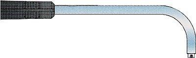 Hőmérséklet érzékelő, rugós, 90°-ban hajlított, Typ K, Kl. 1 -40...+900°C 130x8,0 mm Ø