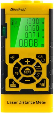 HP-3060, Digitális, lézeres távolságmérő, 0.05-60m, memória, terület/térfogat és háromszög