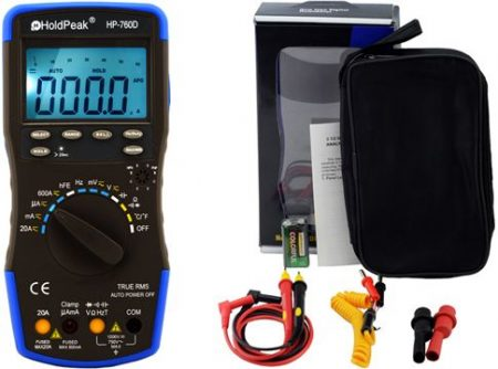 HP-760D, Digitális multiméter, VAC, VDC, AAC, ADC, frekvencia, kapacitás, bargraph, TRMS