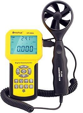 HP-846A, Digitális szélerősség, légáramlás és hőmérsékletmérő, 0-45m/sec, -10°C-45°C